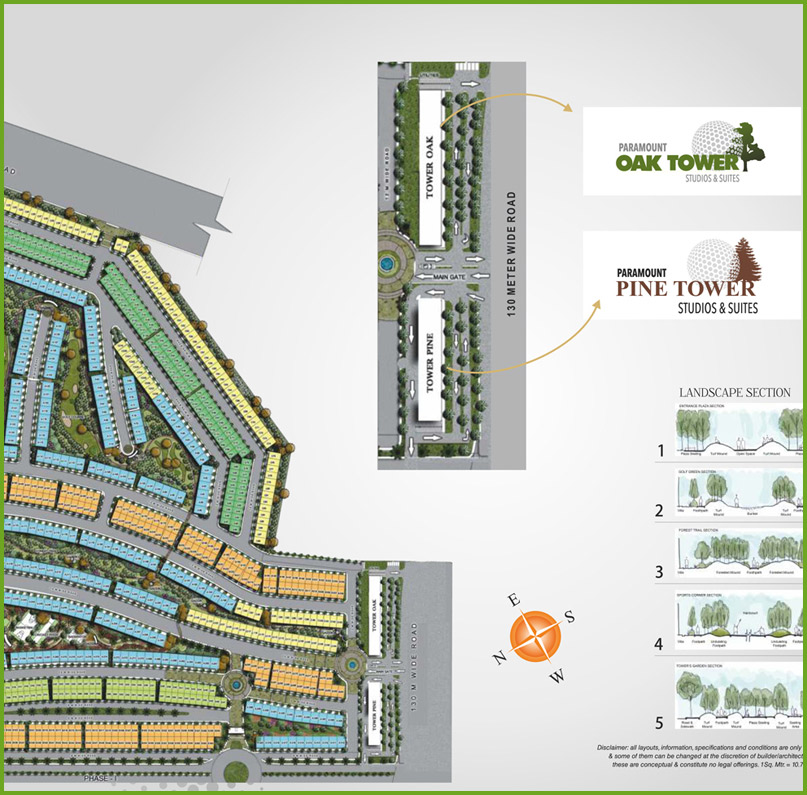 Paramount golf foreste site plan