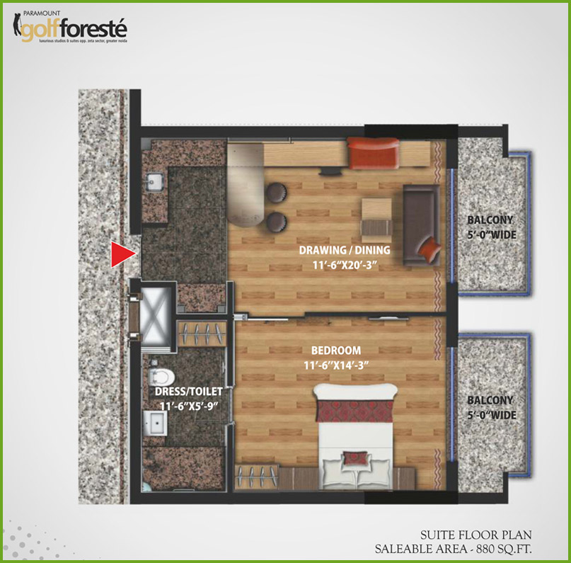 Paramount Suites floor plan